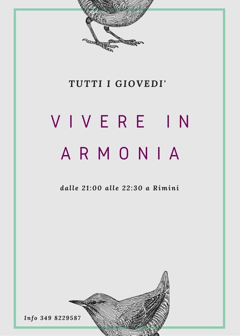 Vivere in armonia tutti i giovedi a Rimini